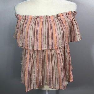 Lucky Brand Off Shoulder Boho Top Size XS NEW NWT